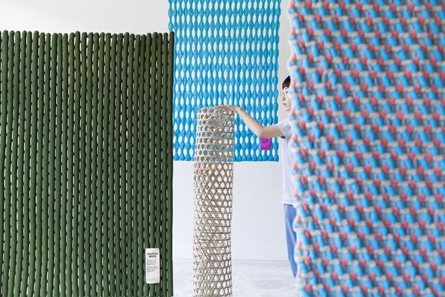 бамбуковые циновки, дизайн Aram Lee, Eindhoven