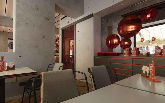 интерьер бара в Terrazza Aperol