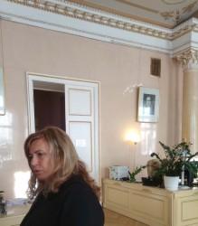 Лариса Канунникова на открытии выставки