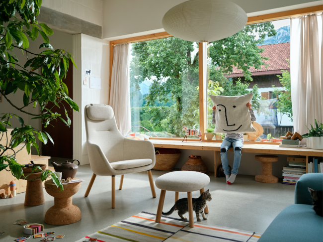 кресло для vitra в интерьере, дизайн Джаспер Моррисон