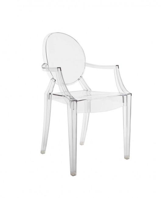 прозрачное кресло Ghost, дизайн Филипп Старк