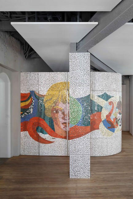 потолочные плиты и мозаика