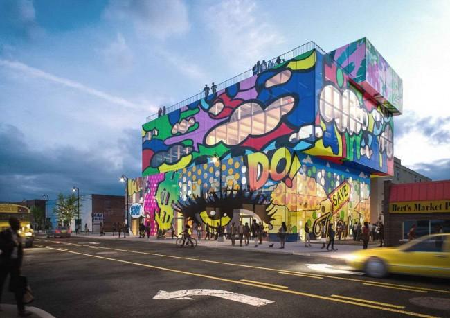 MVRDV торговый центр в Детройте