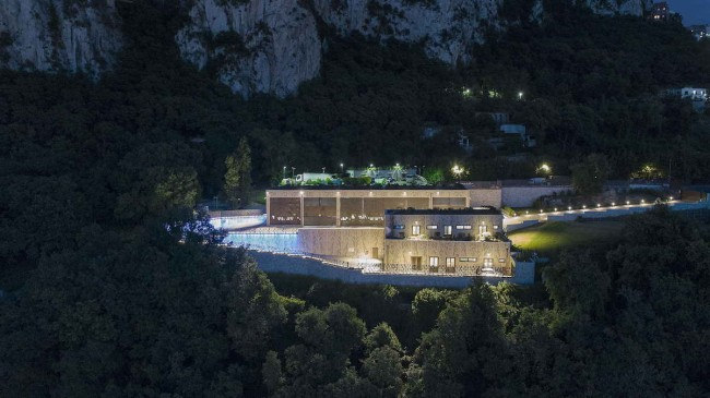 ночной вид электростанции, освещение