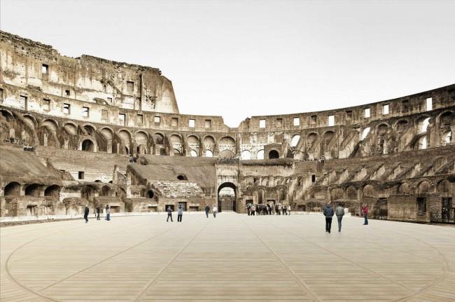 новый пол Колизея