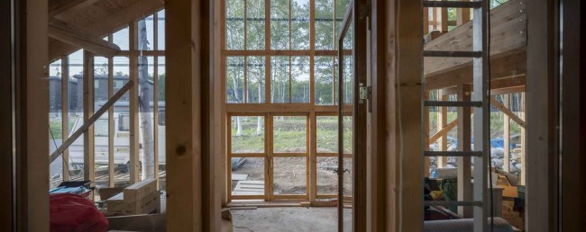 вид на рощу из окон Niseko's house