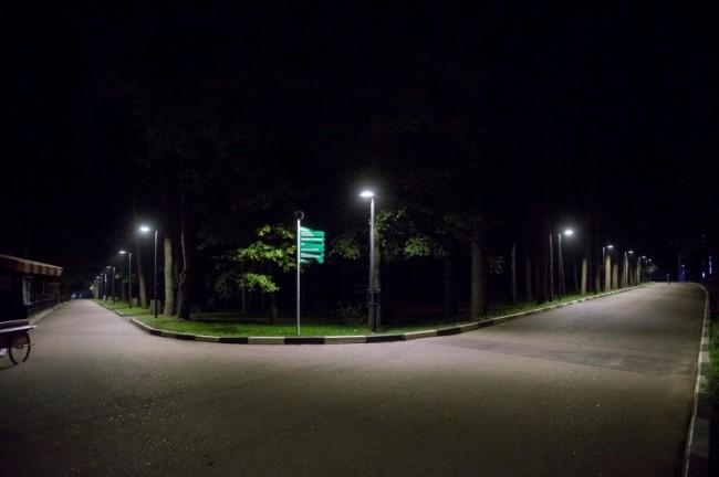 светодиодное освещение парка Ёлочки