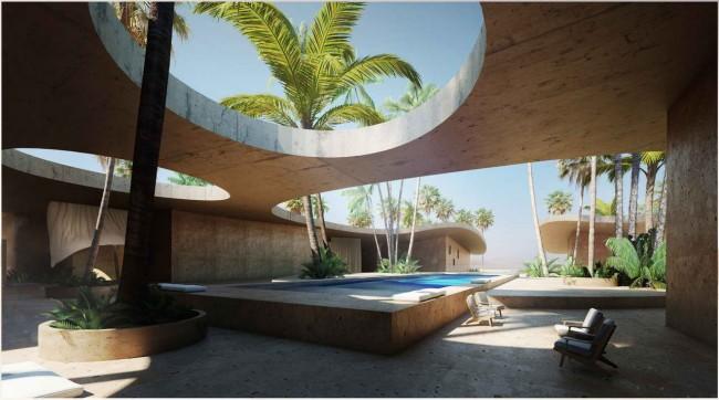патио в отеле, Jasper Architects