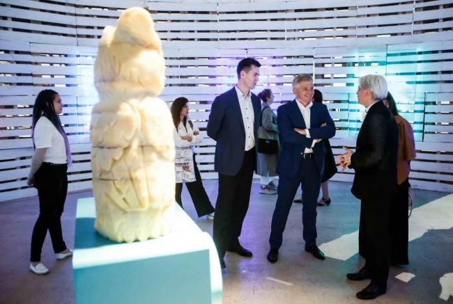 Перов, Кибовский и Аввакумов на выставке