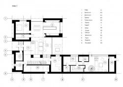 план первого этажа кирпичного дома