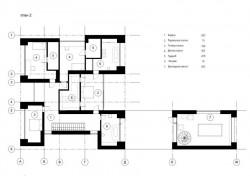 план второго этажа кирпичного дома