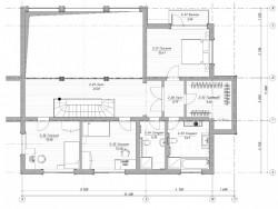 план 2-го этажа, дом на склоне у воды