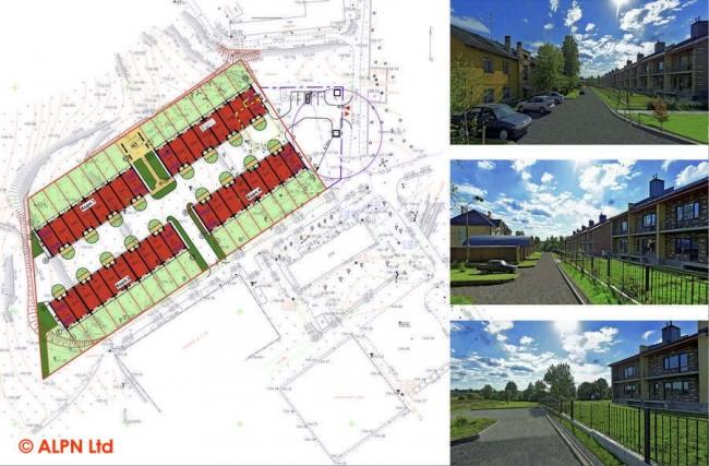 план квартала таунхаусов Brickripples