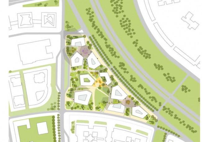 план делового квартала Golden City