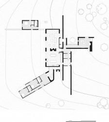 план первого этажа дома с трубами