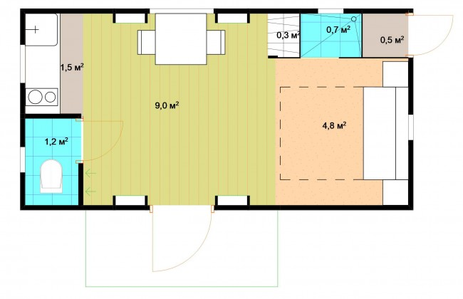 план построенного дома