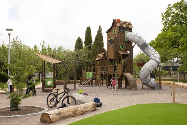 детская площадка Flora с бревном