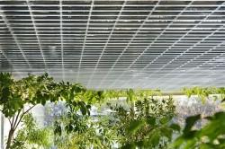 открытый потолок из холодногнутого стального профиля