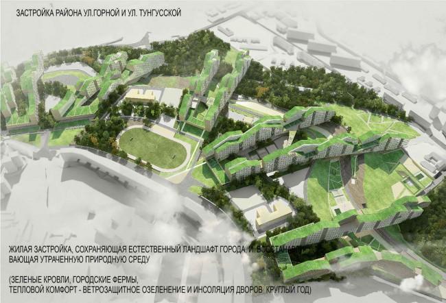 Проект жилого комплекса по ул.Горной, Владивосток, Евгений Силин