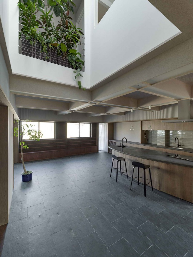 кухня-столовая на втором этаже