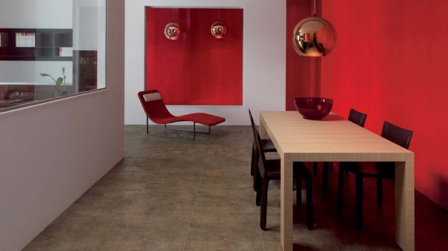 коллекция Reaction на полу в столовой