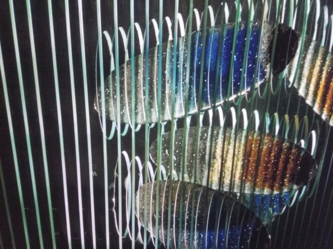 малая форма - объект стеклянные рыбы