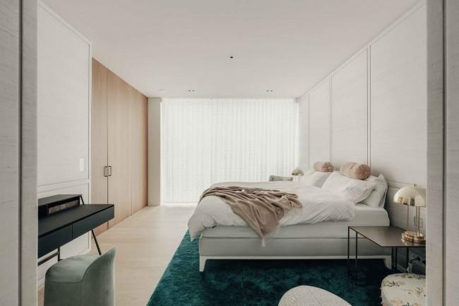 интерьер спальни в пентхаусе