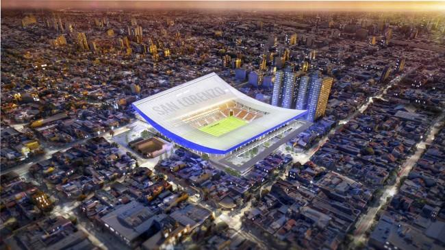стадион San-Lorenzo, вид сверху