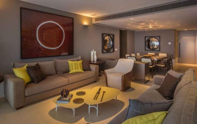 столовая-гостиная, дизайн интерьера Маурисио Нобрега