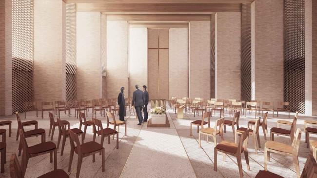 церковный зал, Højvangen