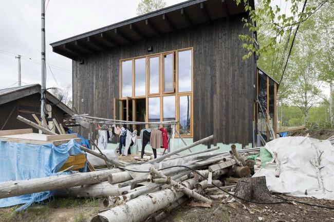 вид участка Niseko's house