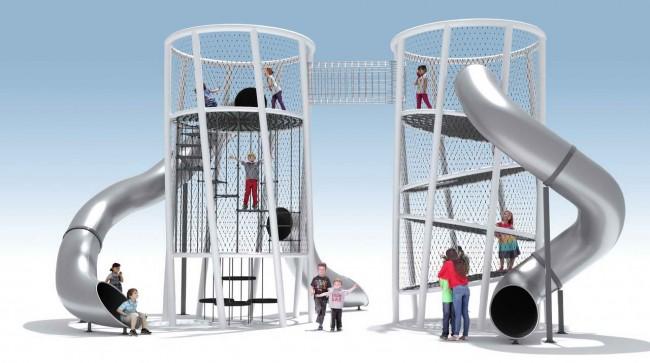 вариант вертикальной игровой плошадки Две башни