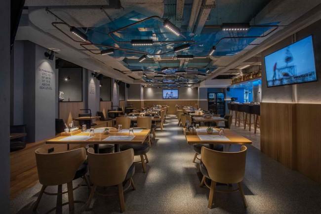 Интерьер рыбного ресторана Находка