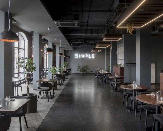 интерьер главного зала ресторана