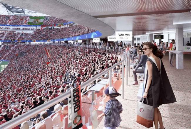 зал в новом стадионе, OMA и LOLA