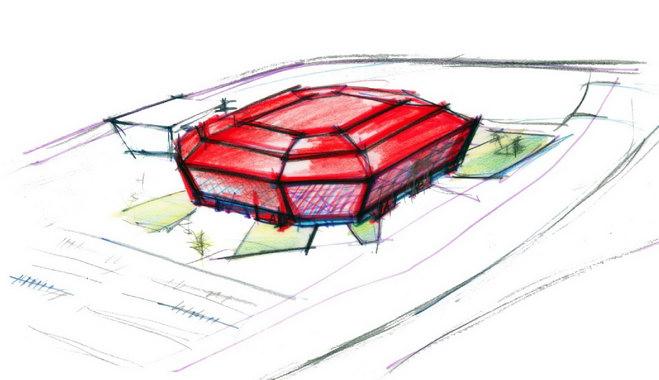 эскиз стадиона Тюмень-Арена