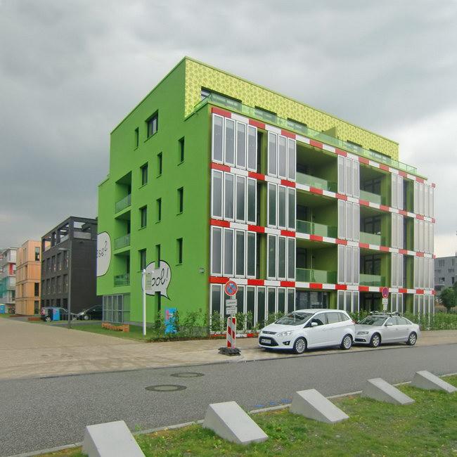 жилой дом с биореактивным фасадом в Гамбурге