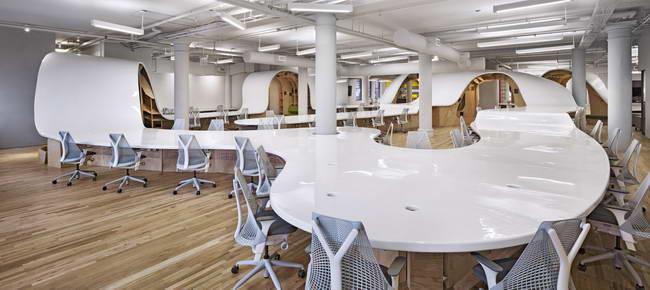 интерьер офиса рекламной компании в Нью-Йорке, дизайн Клив Уилкинсон