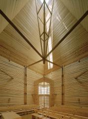 церковь Kärsämäki Shingle, 2004г., архитектор Anssi Lassila, Lassila Hirvilammi Architects Ltd