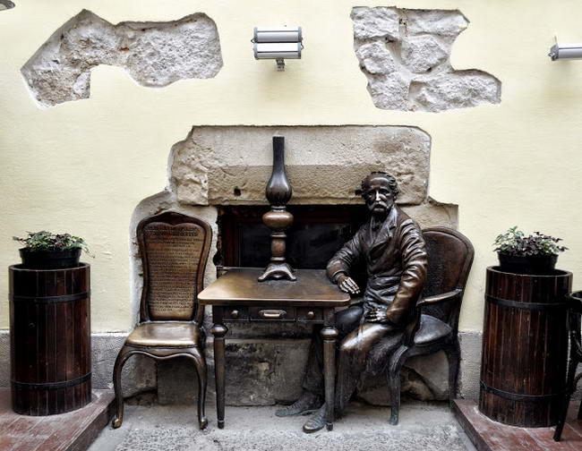 памятник первой в мире керосиновой лампе, Львов