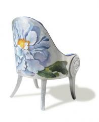 Кресло Lara Azzurra с расписанной вручную спикой, Alchymia