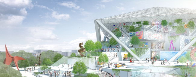 проект музея, Шигеру Бан - озеленение
