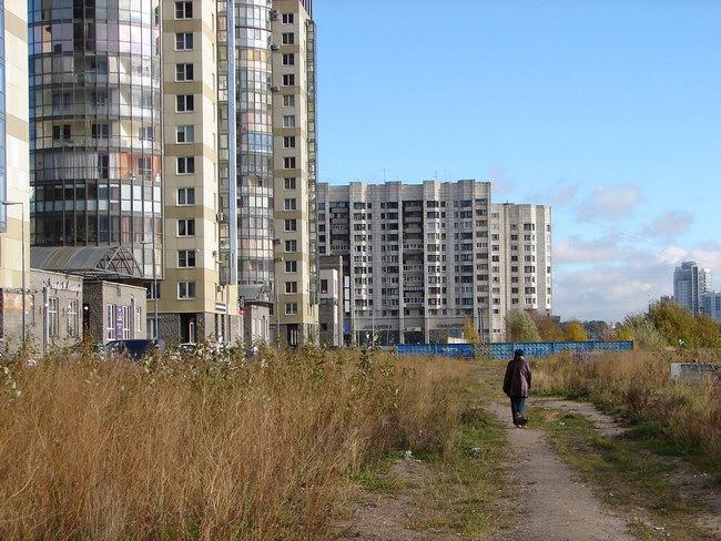 набережная реки Смоленки в Санкт-Петербурге