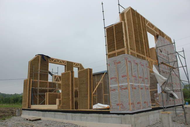 соломенные панели, строительство