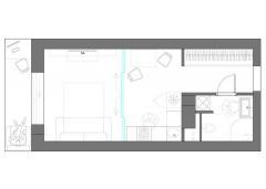 план квартиры-студии с мебелью