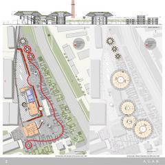 план территории музея стрит-арта, мастерская Витрувий и сыновья