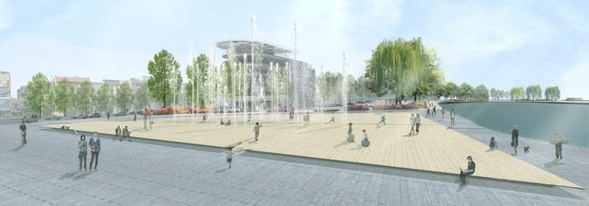 Новая площадь в Ханое, конкурсный проект Alvisi Kirimoto + Partners