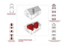 схема и планы маленького каменного дома