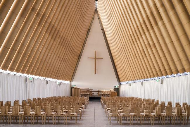 интерьер церкви в Новой Зеландии