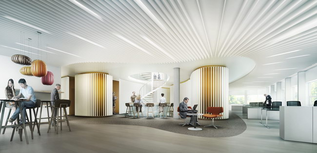 офисное пространство, архитектурное проектирование Snøhetta